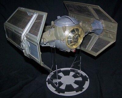 Display stand for Vintage Star Wars Tie Interceptor Clear Acrylic Nice!