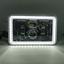 "thumbnail 5 - JTX, 1 Pair Black LED Headlights, 4x6"", White and Red Halo, Toyota Landcruiser"