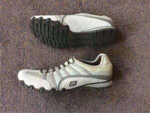 Sh1 Box Skechers Summer Trainer No Scarpa Size 7 Cream Slip On New q17OqP