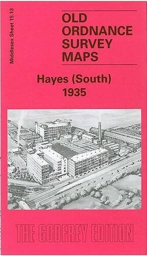 OLD ORDNANCE SURVEY MAP HAYES (SOUTH) 1935