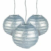 12 Silver Paper Chinese Lanterns Centerpieces Wedding Party Decorations