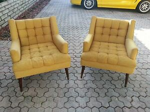 Sensational Details About Pair Of Wildly Stylish 1950S Mid Century Modern Club Chairs Gamerscity Chair Design For Home Gamerscityorg