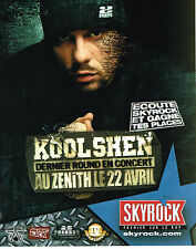 PUBLICITE ADVERTISING 114  2005  SKYROCK  radio   KOOL SHEN au ZENITH CONCERT