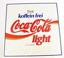 Grande COCA COLA LIGHT Germania 20x20 CM ADESIVI coke sticker decal GERMANY
