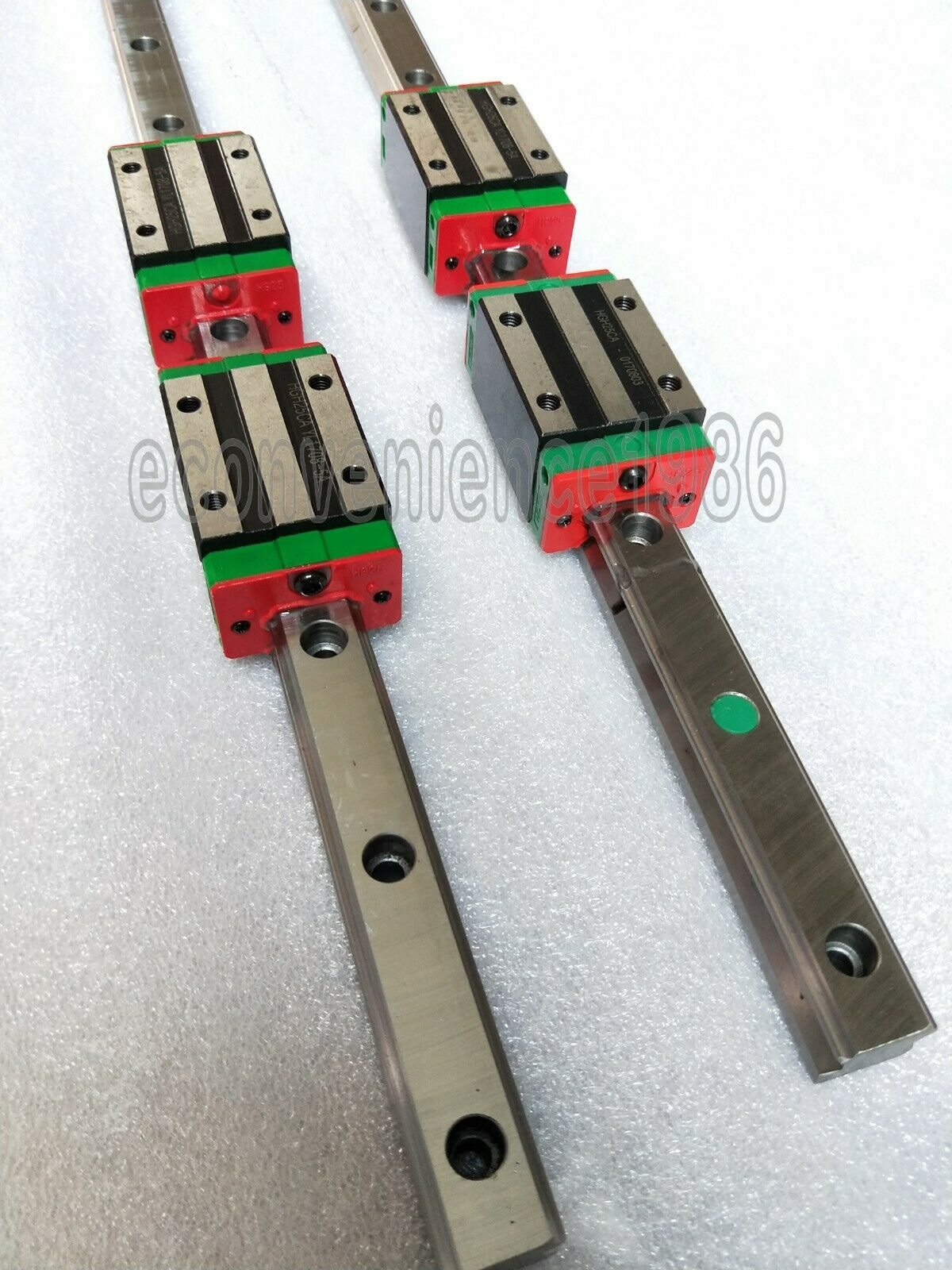 2 sets HGR20/25/30--3700mm Jointed Linear rail & 4 pcs HGHCA Block Bearing