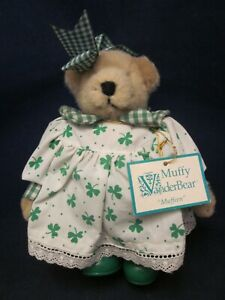 MUFFY-VANDERBEAR-Muffeen-St-Patricks-Day-Bear-with-Outfit-VINTAGE-NEW-w-TAG