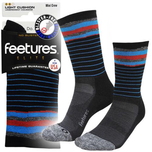 Feetures Elite Mini Crew Pro Irritation Free Running Sports Socks Cascade Black