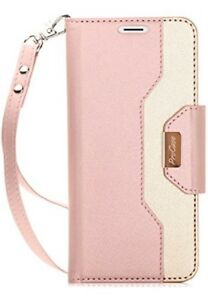 Mobile-Case-Wallet-Stand-Holder-Magnetic-Pocket-Card-Slots-Cover-Pink-Galaxy-S9