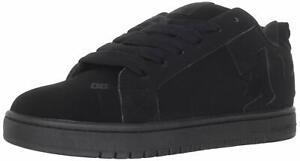 DC-Mens-Court-Graffik-SE-Low-Top-Lace-Up-Fashion-Black-Black-Black-Size-8-0-id