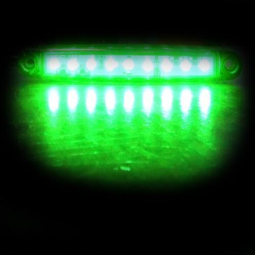 6x 12v 9 LED Grün Slim Seitenblinker Lampen für Lkw Anhänger Lkw Bus