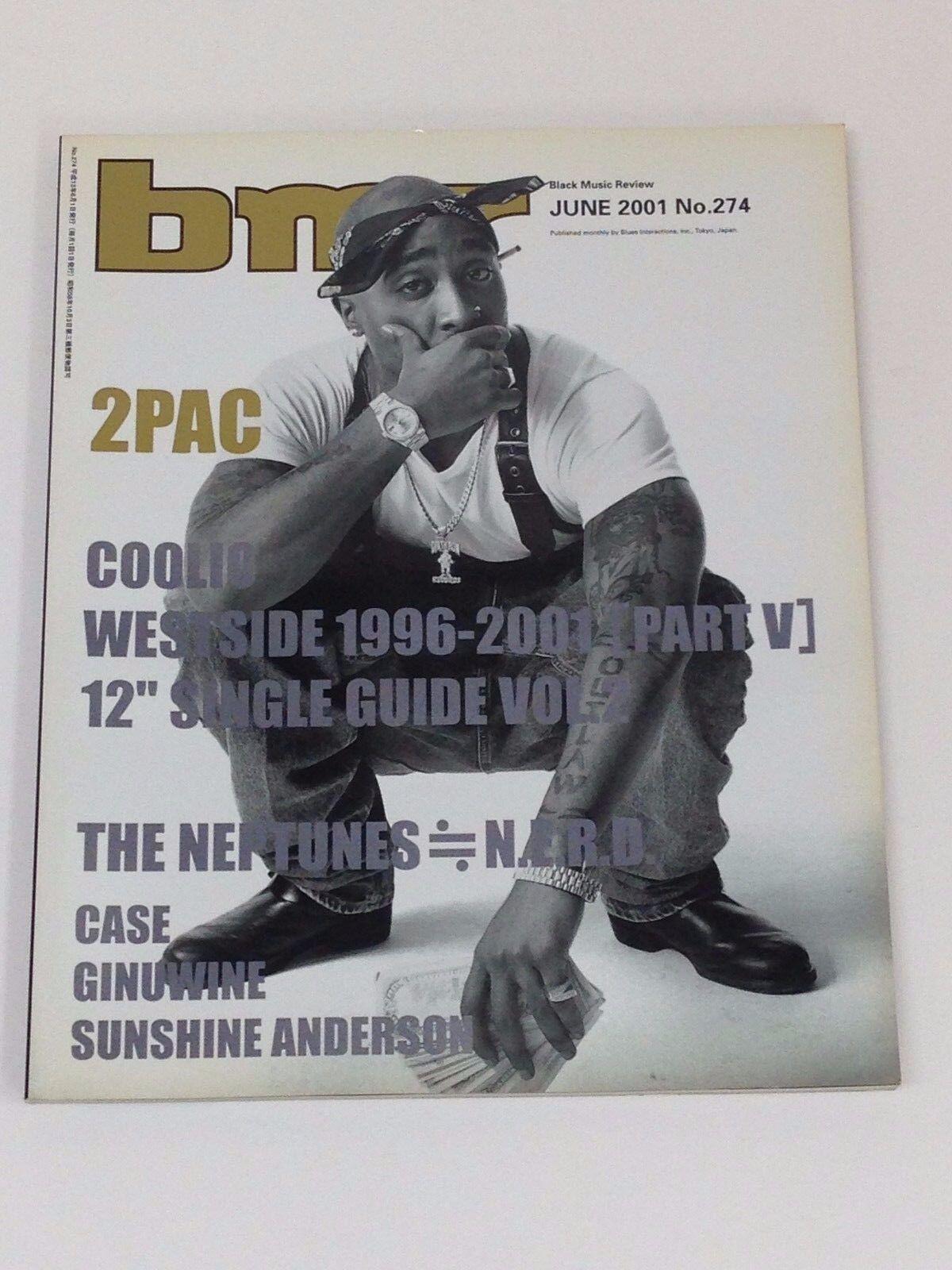 BMR Japan Magazine June 2001 Tupac Shakur 2pac Coolio Noreaga Jay-z Pharrell