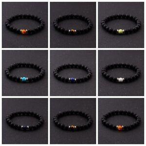 Women-Mens-Bracelet-Natural-Lava-Stone-Reiki-Chakra-Beads-Diffuser-Bracelet