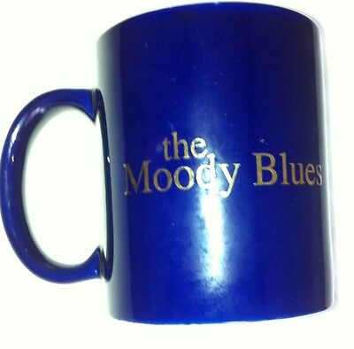 Moody Blues Coffee Mug Cup Blue and Gold