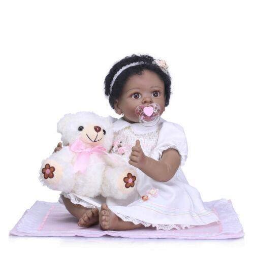 22/'/'55cm Reborn Baby Dolls Handmade SiliconeLooking Newborn Baby Girl Xmas Gift