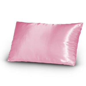 Pair-of-Satin-Lingerie-Pillowcases-King-Size-Pink-New