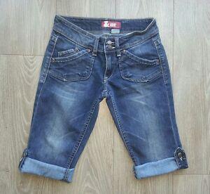Short-jeans-bleu-H-amp-M-retrousable-34-36-tbe