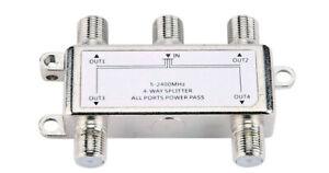4-Way Port HDTV TV Antenna Signal Amplifier TV CATV Cable Booster Splitter BSC