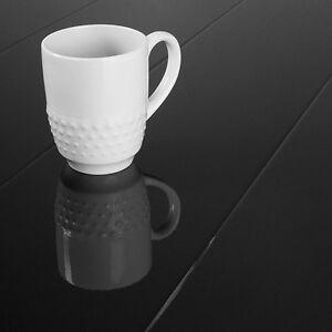 Image Is Loading Black Laminate Flooring Super High Gloss 8 7mm