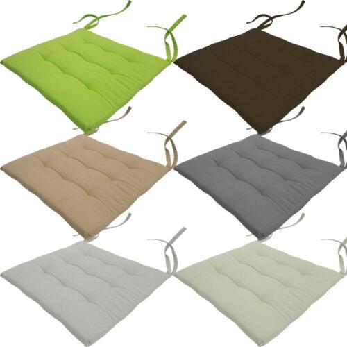 Stuhlkissen Nizza Sitzkissen für Stühle Stuhlauflage Gartenkissen Steppkissen