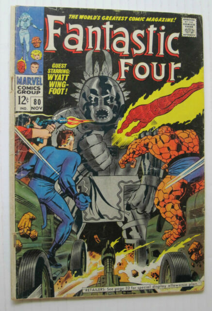 Fantastic Four #80 (MCG, 11/68) VG+ 12¢ Cvr/Jack Kirby-a.