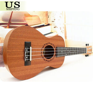 "23"" Concert Ukulele Sapele Musical Instrument 4 String Acoustic Hawaiian Guitar"