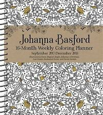 Item 8 JOHANNA BASFORD 2017 2018 COLORING WEEKLY PLANNER CALENDAR