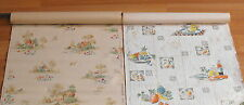 Old Pair VTG Kitchen Fruit Cottage Design Barnes Of York Union Made Wallpaper