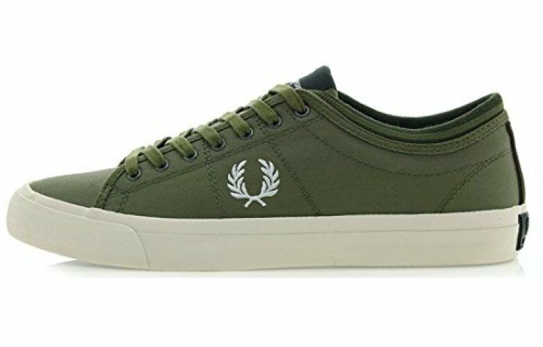 Fred Perry Men's Kendrick Tipped Cuff Trainers Shoes B7437-B61 - British Olive