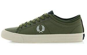 Fred-Perry-Kendrick-con-punta-Puno-Zapatillas-Zapatos-B7437-B61-BRITISH-Oliva