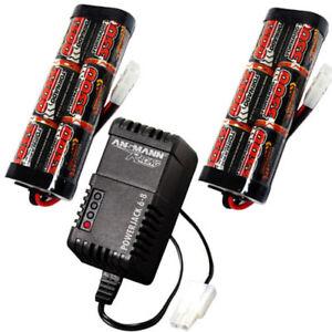 Overlander-2x-3300mah-7-2v-NiMH-Battery-Pack-amp-Charger-for-RC-Car-Tamiya-Plug