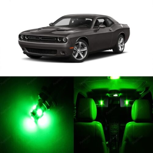 9 x Green LED Interior Light Package For 2015-2018 Dodge Challenger Pry TOOL