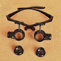 Watch Repair Eye Glass Eyewear Magnifying LED Magnifier Loupe 10X 15X 20X 25X UK