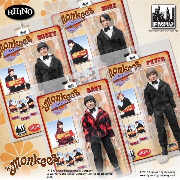 Monkees Tuxedo Set of 4 8 inch action figure moc Figures Toy Company