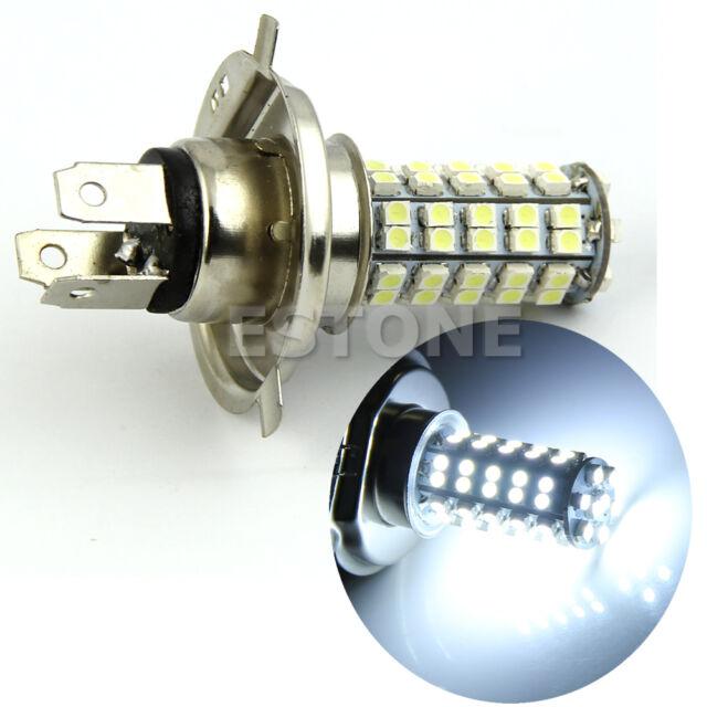 H4 3528 68-SMD LED 6500K 310-Lumen White Fog Light Bulb Headlight Car DC 12V