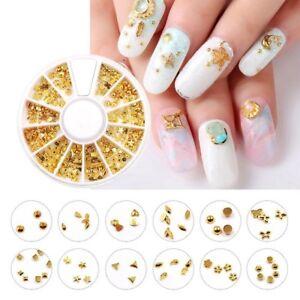 Image Is Loading New Gold Geometric Shape Metallic Nail Art
