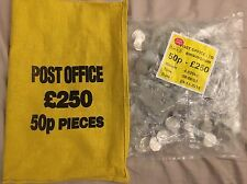 25 Heat Sealed Bags, Battle of Hastings 50p, Uncirculated. 500 Coins! LAST ONE!!