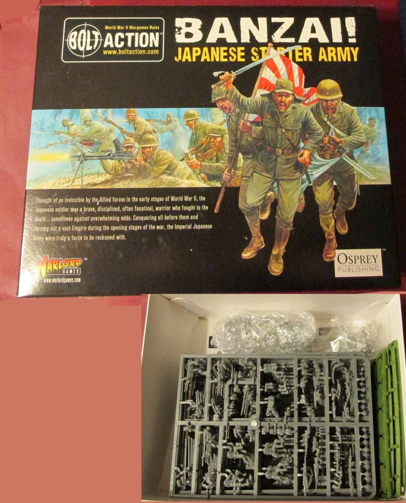Bolt Action WGB-START-08 WWII Banzai  Imperial Japanese Starter Army Warlord NIB