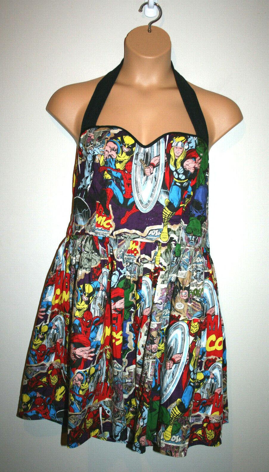 damen MARVEL Comics Avengers Handmade Halter Sweetheart Dress XL XXL 2X 3X