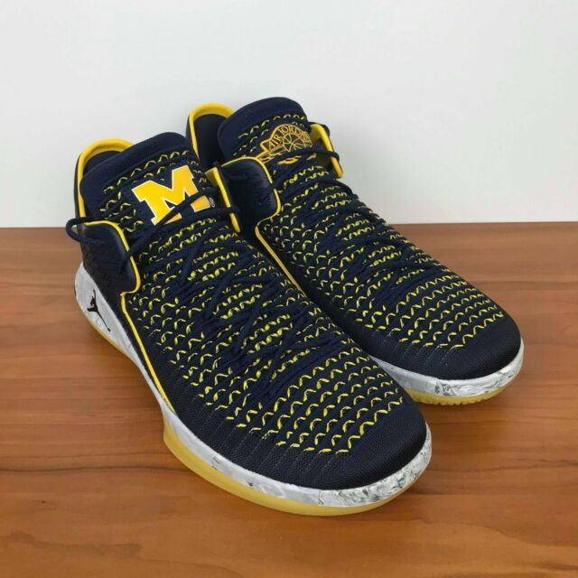 0be9559b3fd8 Nike Air Jordan XXXII 32 Low Michigan Amarillo Navy AA1256-405 Men s Size  11.5