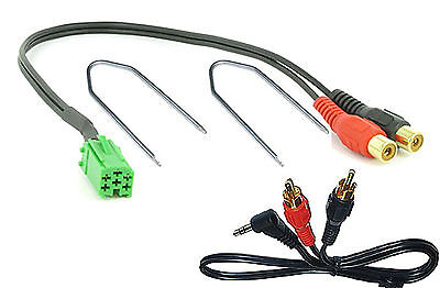 Llaves Cable Mini-ISO 6 Pin Aux Mini Jack para Renault Megane Radio Update List