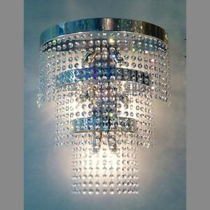 Huge large lead crystal glass chandelier wall light 6 lamps lighting image is loading huge large lead crystal glass chandelier wall light aloadofball Image collections
