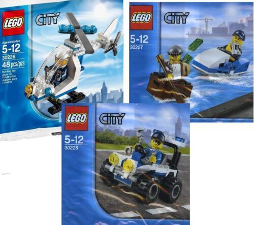 Helikopter Jet-Ski Jagd Jeep 30226 30227 30228 3x Lego City Promos 2014 Polizei
