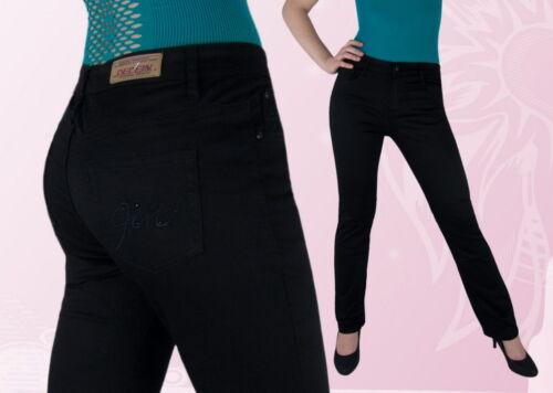 Damen Jeanshose Sommer Hose  Normalsitzend Schwarz 38 40