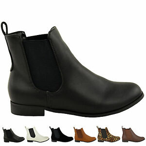 womens chelsea ankle boot elastic gusset pull on