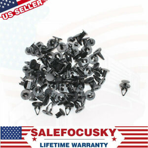 NEW-50X-Cowl-Fender-Nylon-Liner-Clips-Push-Pin-Retainer-Fits-Ford-Hummer-GM