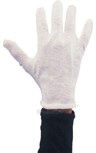 100/% White Cotton Gloves Moisturising Lining Gloves Health Work 2 Pairs