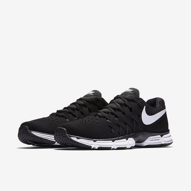 399d734a760b Nike Lunar Fingertrap Training 4E Mens Shoe Black White 898065 001 Size 9.5  e3bbf6