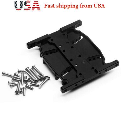 Aluminum Gear Box Bottom Base Mount Center Skid Plate for SCX10 1//10 RC Car US