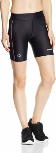 Schwarz//Beere 11132 M Gregster Damen Shorts Laufhose kurz Leggings