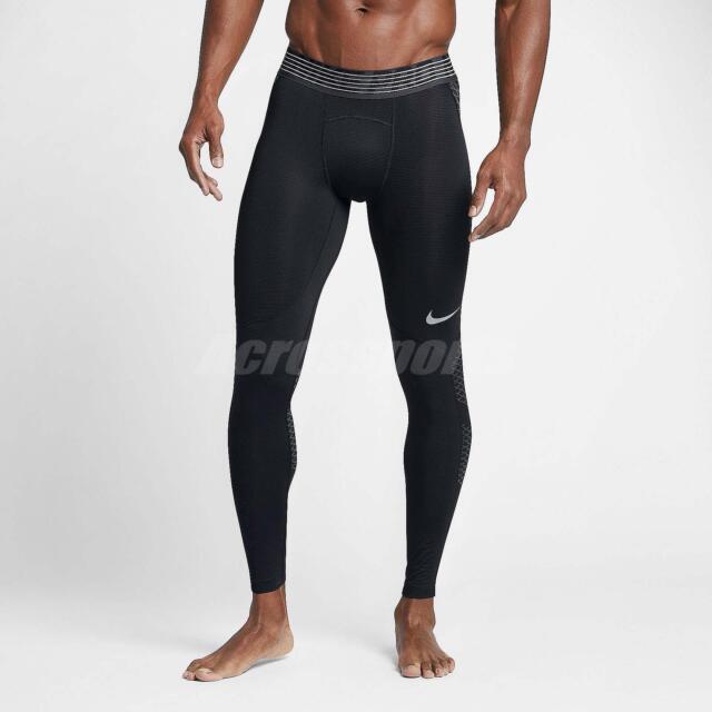 official photos e2eb1 56e82 Nike Men Pro Hypercool Tight Leggings Black Training Sport Running  828162-010